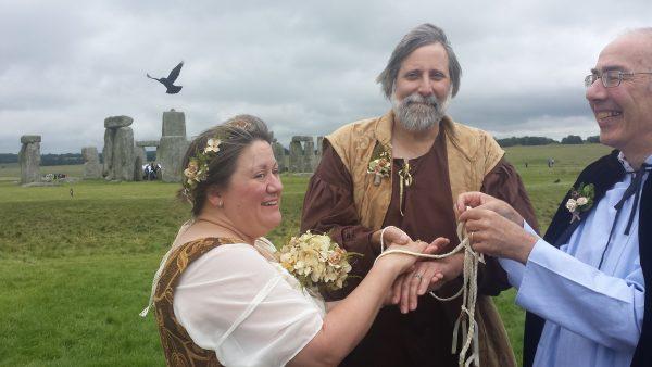 A midsummer handfasting at Stonehenge