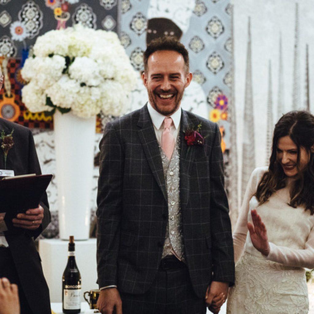 laughter at a civil celebrant led wedding