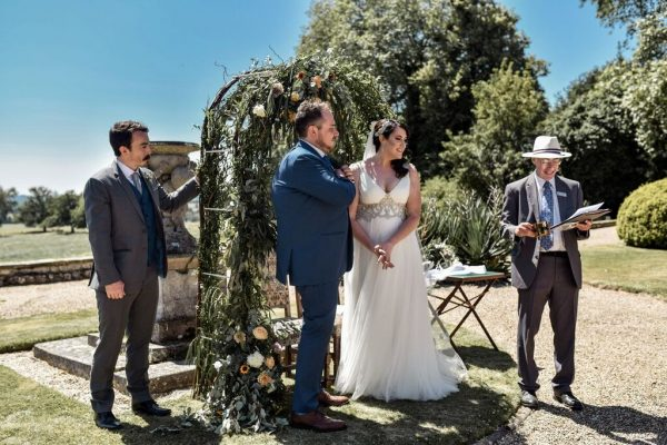 open air celebrant-led wedding