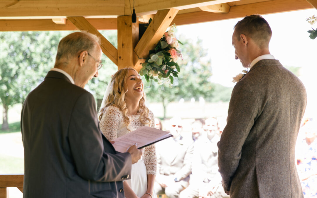 humour at a wedding; celebrant-added value